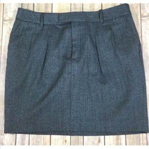 Gap Pleated Skirt Navy Blue Pockets Stretch 12